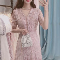 Flower lace midi dress(No.300699)