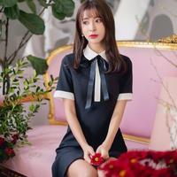 classic ribbon tie dress(No.300387)