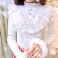Ruffle petite frill knit tops(No.301959)