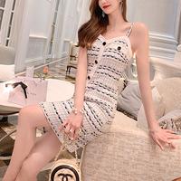 Summer tweed lady midi dress(No.301483)