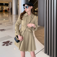 Dress belted trench coat(No.301582)