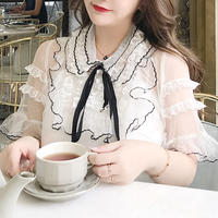 frill lace blouse(No.300572)