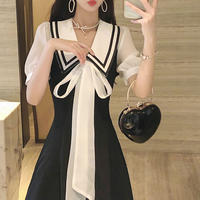 Mono big ribbon dress(No.301104)