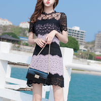 Two tone sensual lacy dress(No.301481)