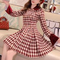Retro chidori check dress coat(No.300917)
