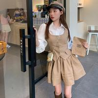 Caffè e llatte vest & skirt set(No.030941)