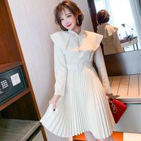 Flare cape pleats trench dress(No.302094)【cream】
