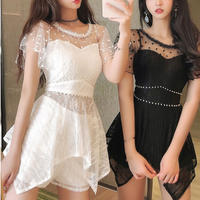 Fairy dot lace suit setup(No.301367)【2color】