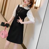 Point bijou lace black dress(No.301619)
