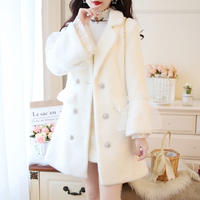 Eco fur bijjou button jacket(No.300845)