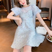 Cinderella like ice tweed flare dress(No.302279)