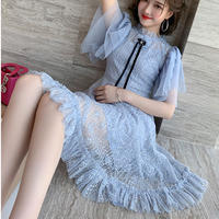 Fairy ribbon brooch tule dress(No.301220)