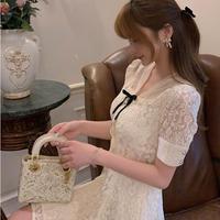 Classical lacy petite ribbon dress(No.301411)