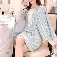 Mint check tweed dress / jacket(No.300858)