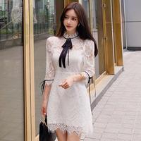 Lady classical lace mini dress(No.301954)【white】