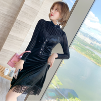 Chidori turtle tops & velour tight dress(No.301730)