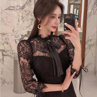 Lady classical lace mini dress(No.301954)【black】