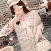 Creamy mix tweed jacket / dress(No.300841)