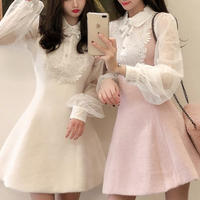 Melty volume sleeve made dress(No.300915)【2color】