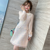 Ruffle collar dreamy tweed dress(No.301596)