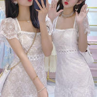 Muse lacy mermaid line dress(No.301261)【2color】