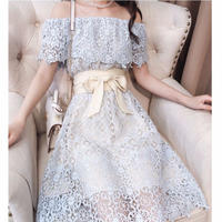 Dream lace off-shoulder long dress(No.300646)