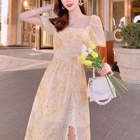 Vitamin flower lace midi dress(No.301118)