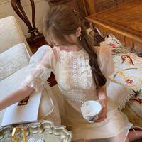 Vintage flower lady tulle dress(No.301448)