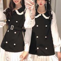 Double pearl line mono dress(No.301071)