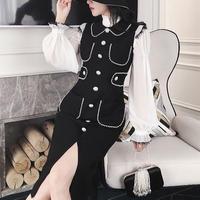Body line classic pearl midi dress(No.300817)
