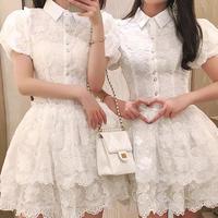 Ballerina puff sleeve mini dress(No.301096)
