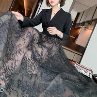 Sensual lacy docking dress coat(No.302083)