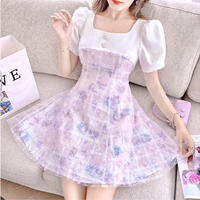 Dreamy blink tulle flare mini dress(No.302289)