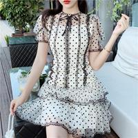 Dot organdy tulle lady dress(No.301352)