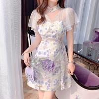 Fairy sleeve lavender fleur dress(No.302142)