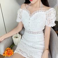 Heart décolleté cut flora dress(No.301286)