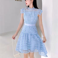 Heart cutting lace flare dress(No.301245)