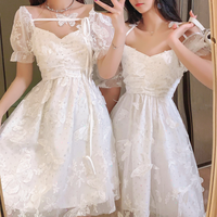 Butterfly lacy tulle dress(No.301431)【long , mini】