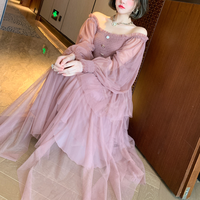 Muse millefeuille lacy long dress(No.302020)【pink】