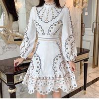Waffle print lace dress(No.301002)