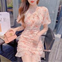 Vitamin flower lace cache-coeur dress(No.302175)