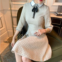 Basic idol look tweed dress(No.300997)