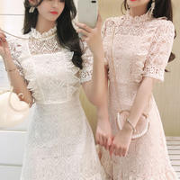 一部即納♡Lady cutting lace dress(No.301140)【3color】