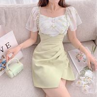 Botanical fleur blouse & shirring skirt(No.302286)