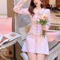 Dreamy mix tweed lady dress(No.301586)