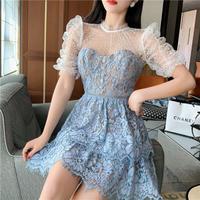 Cinderella lace docking frill dress(No.302113)