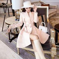Pearl line sakura pink dress coat(No.301777)
