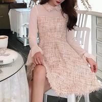 pink beige tweed OP(No.300570)