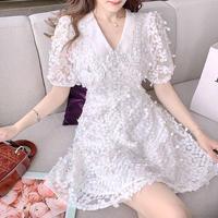 Petite fleur white lace dress(No.302340)