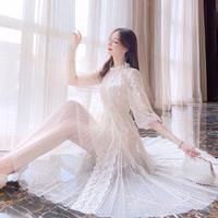 Lady fairy lace long dress(No.301117)